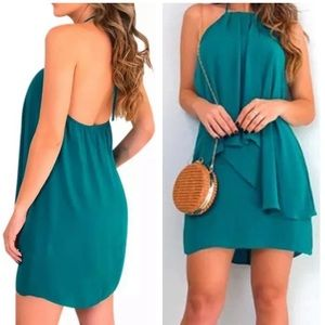 Dresses & Skirts - Open back ruffle front party dress summer